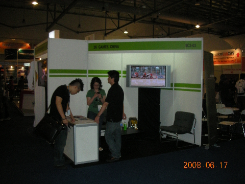 2K Games China recruitment booth