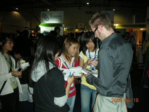 Andy and Fans
